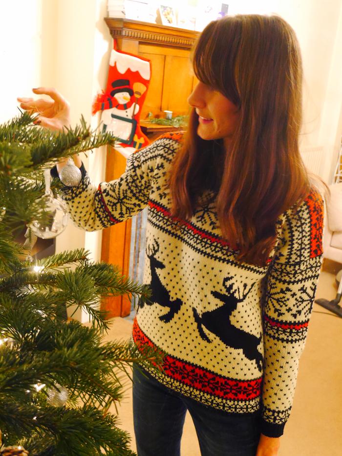 Me decorating tree 1