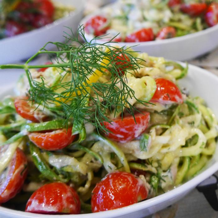 zuchinni spaghetti recip