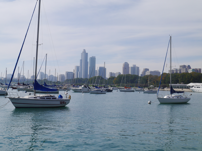 Boats in the marina Chicago