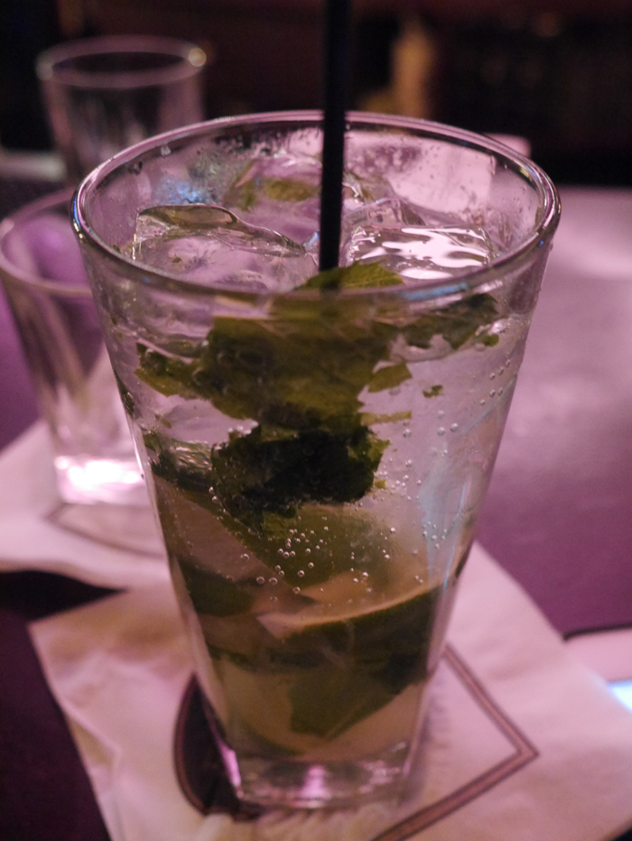 The Green Eyed Girl drinks mojito