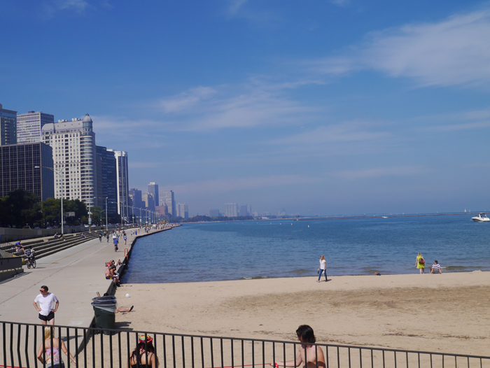 The beach at Chicago