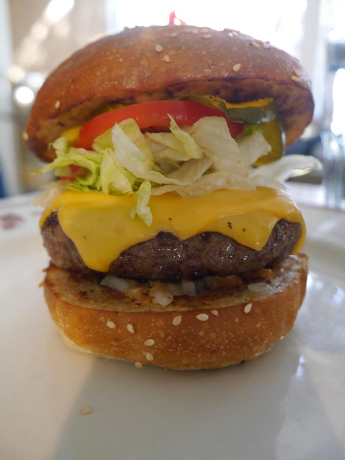 Burger at the Little Goat Diner