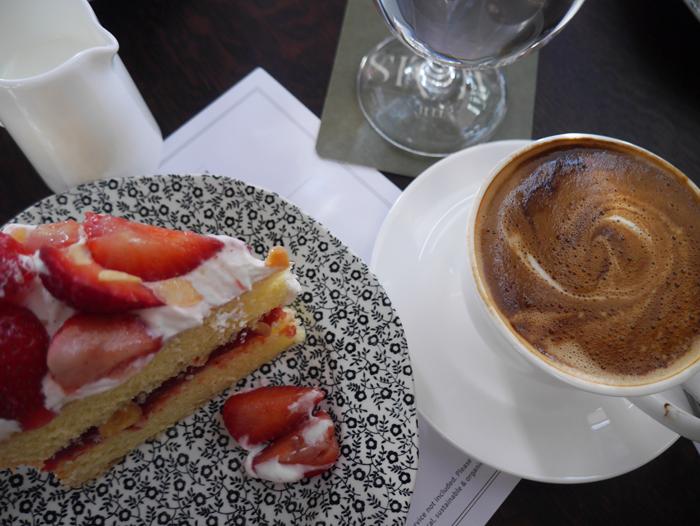 Cake and Coffee at Soho House