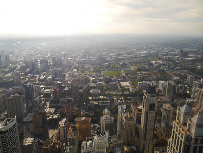 The view from the John Hancock Building