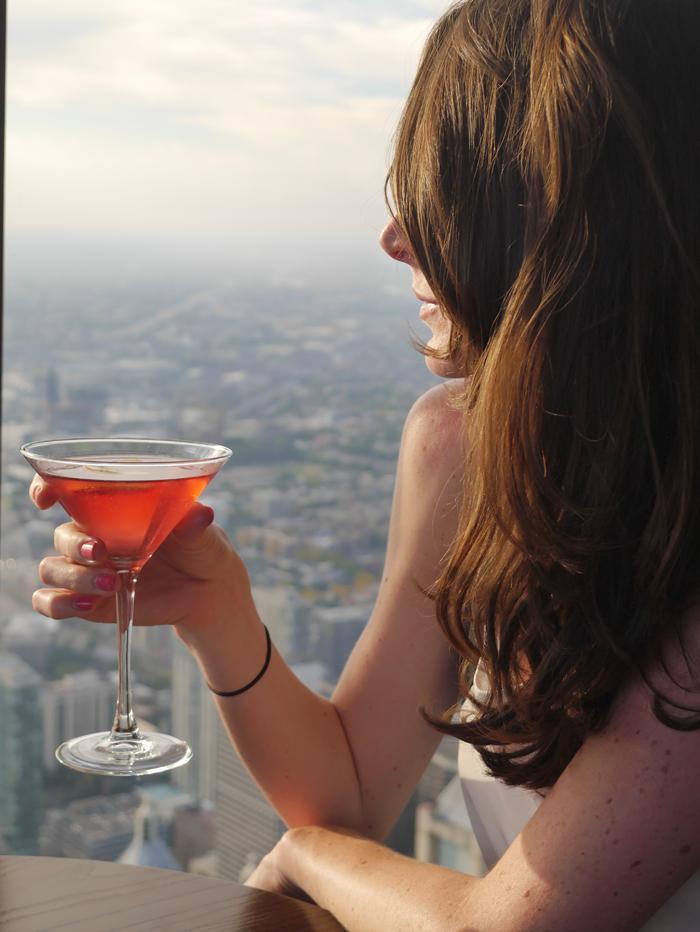 Drinks in the John Hancock Skyscraper