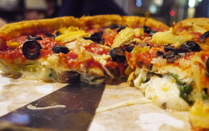 The best place for stuufed crust Pizza in Chicago