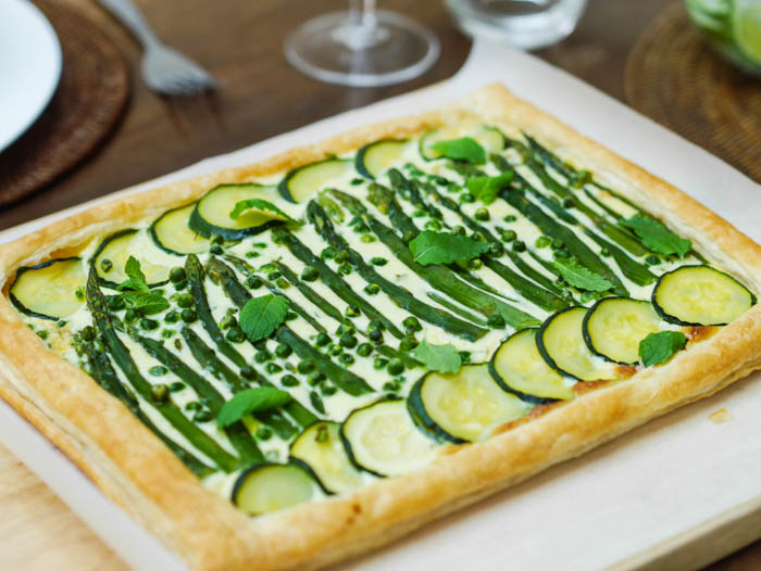 Summer vegetable tart-11