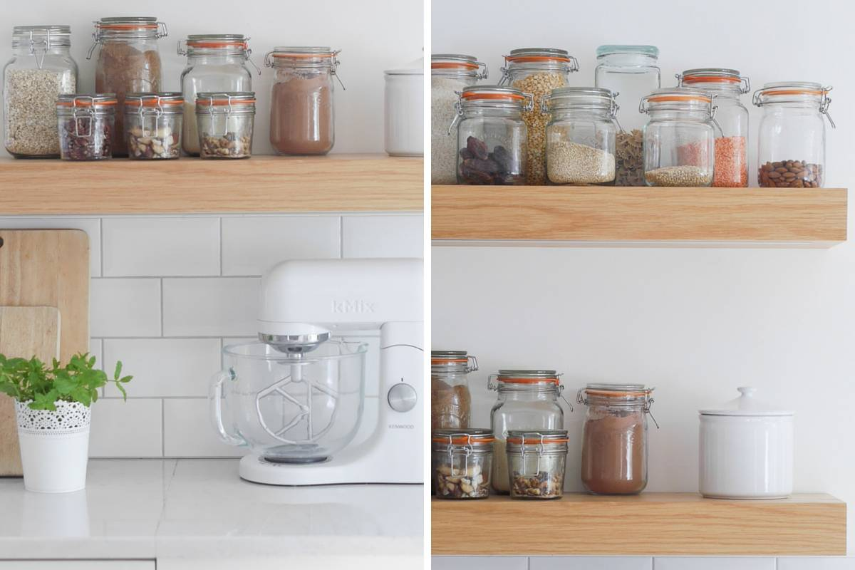 3 ways to style open kitchen shelves-2