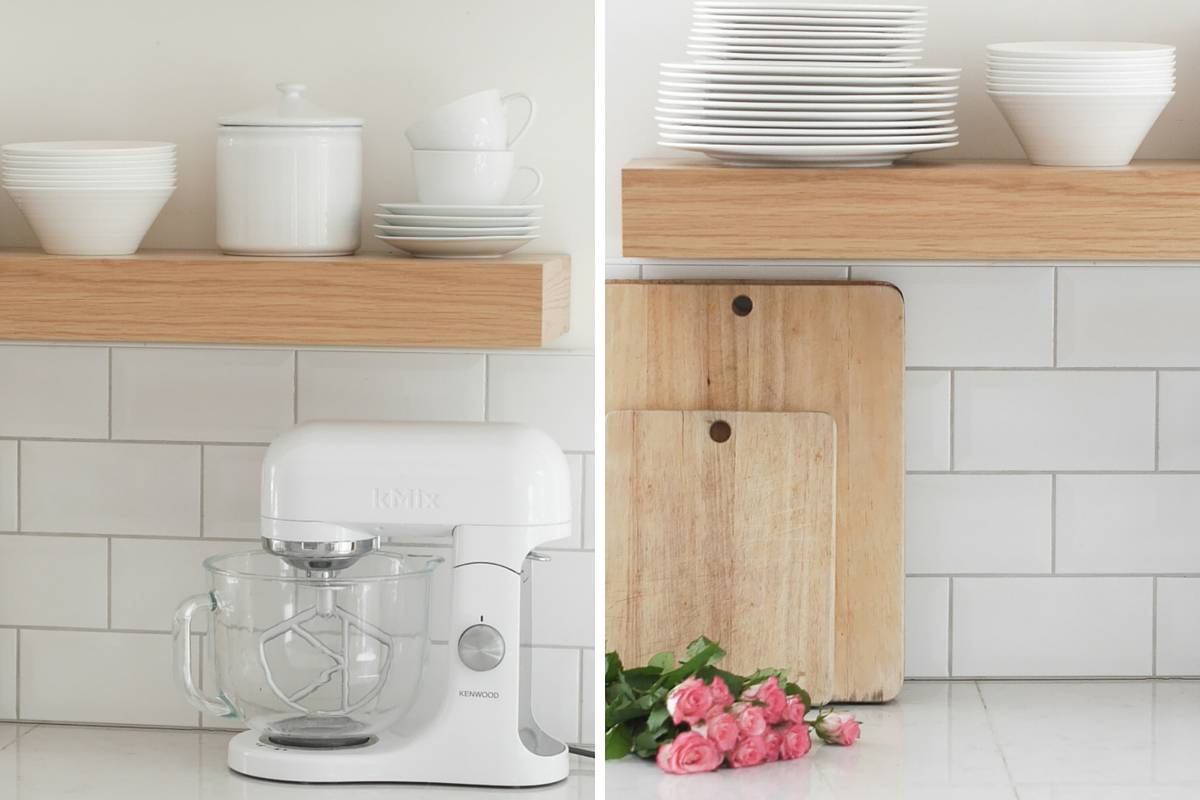 3 ways to style open kitchen shelves-1