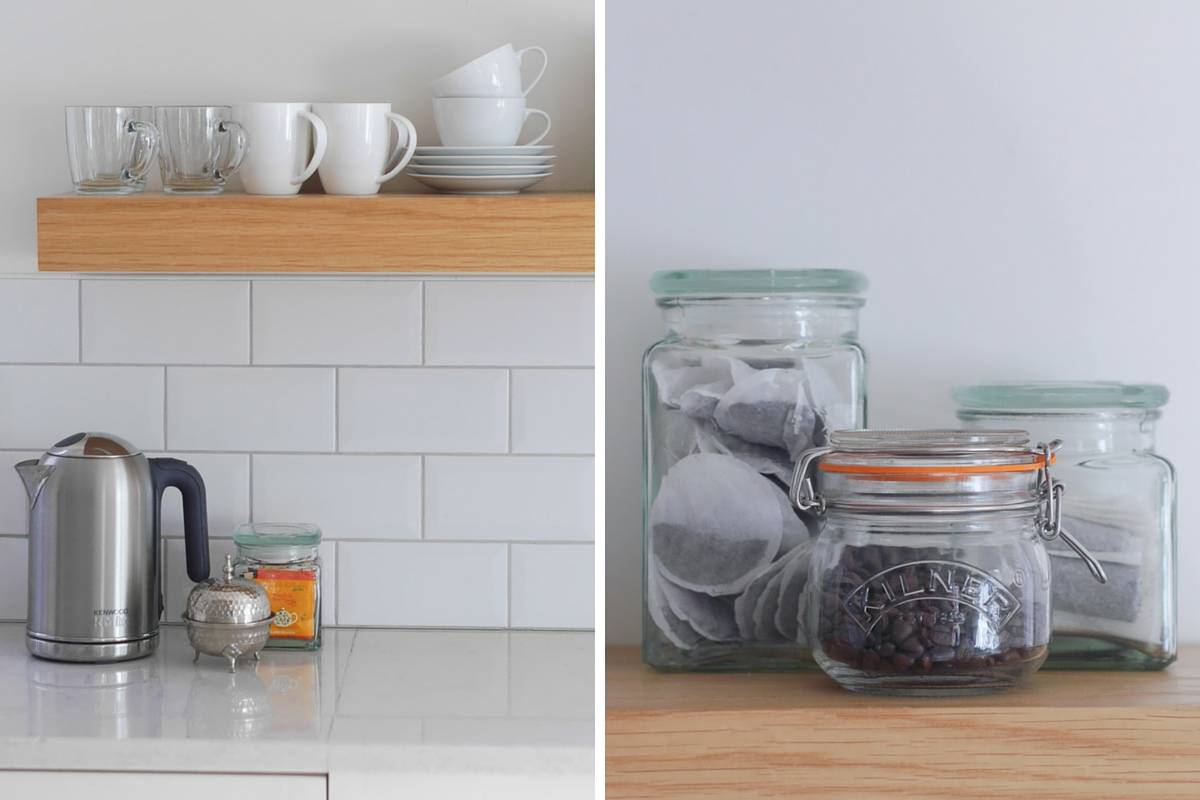 3 ways to style open kitchen shelves-3