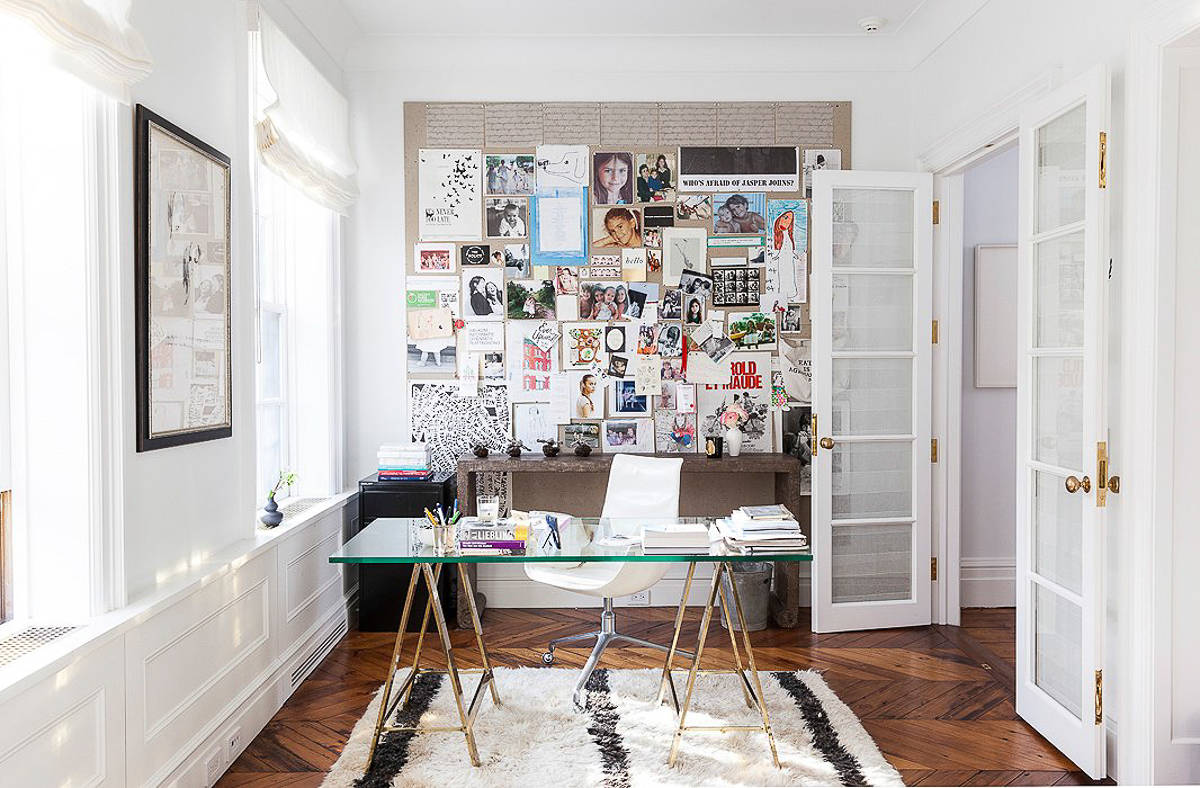 Home office inspiration the green eyed girl - Creating a small home office ...