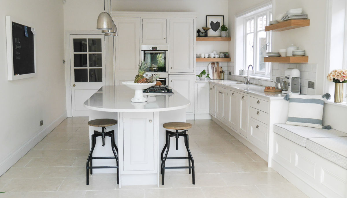Bright White Kitchen Design And Scandi Inspired Living Area ... Part 79
