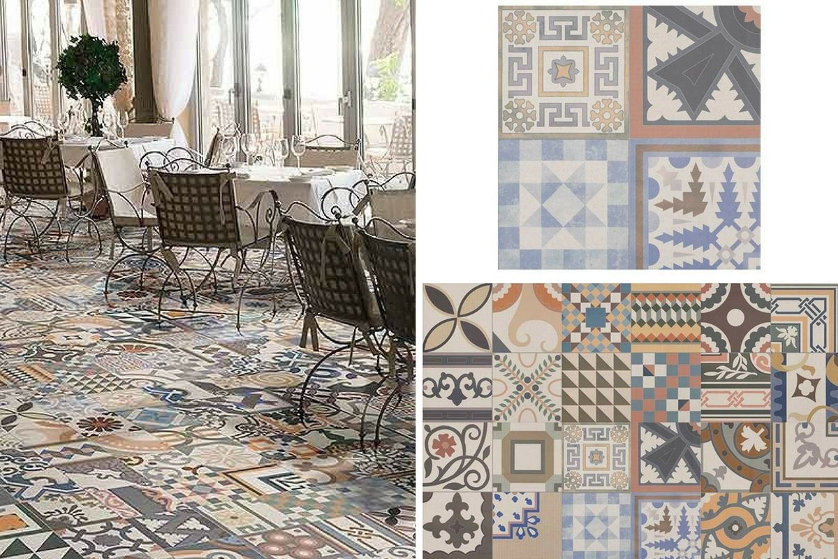 Five of the best patterned floor tiles for the home patterned floor tiles dailygadgetfo Image collections