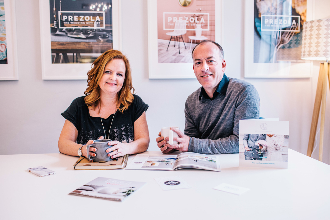 Ali Beavan - founder of Prezola with husband Dom
