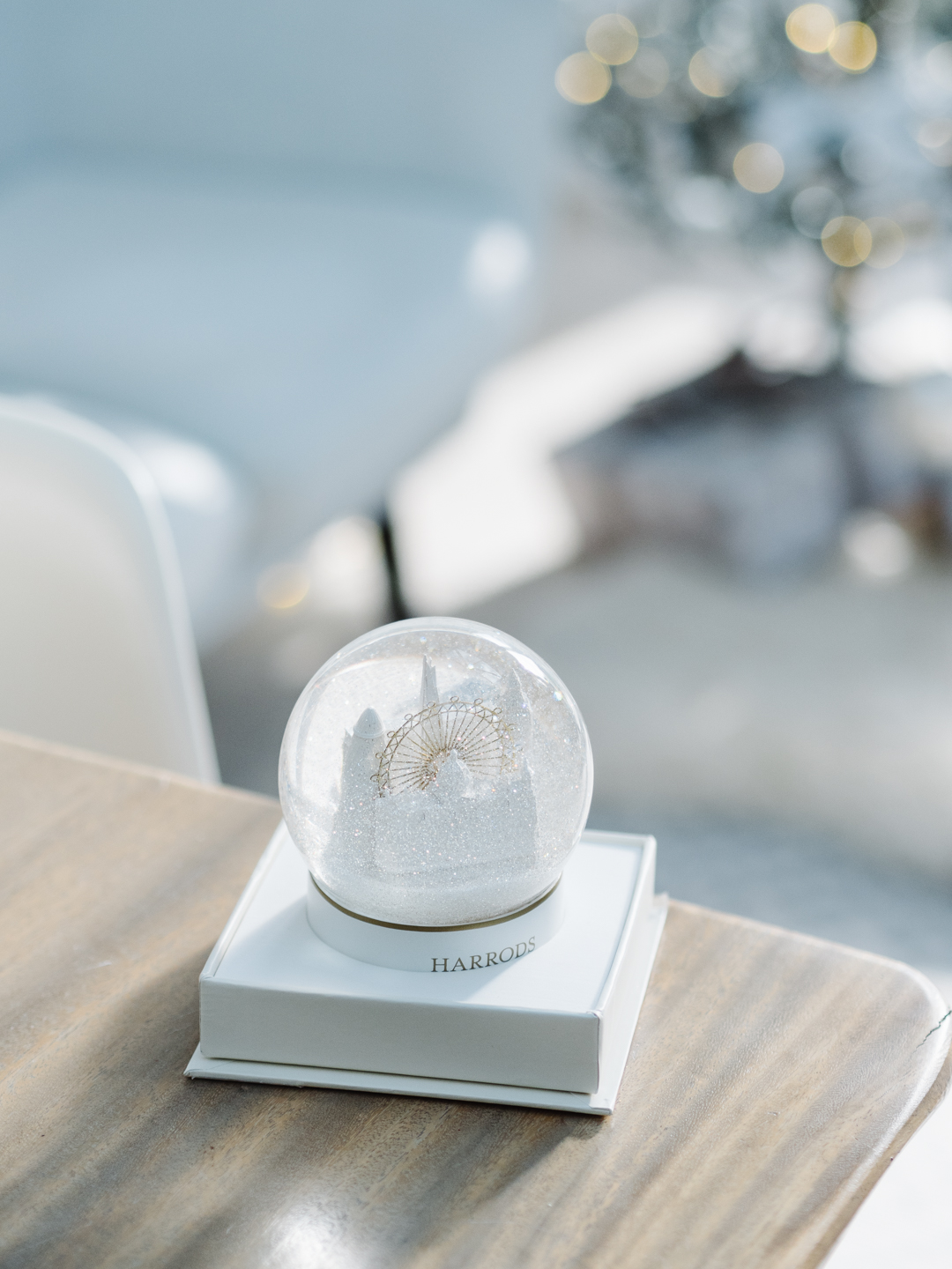New Christmas traditions - Harrods snow globe
