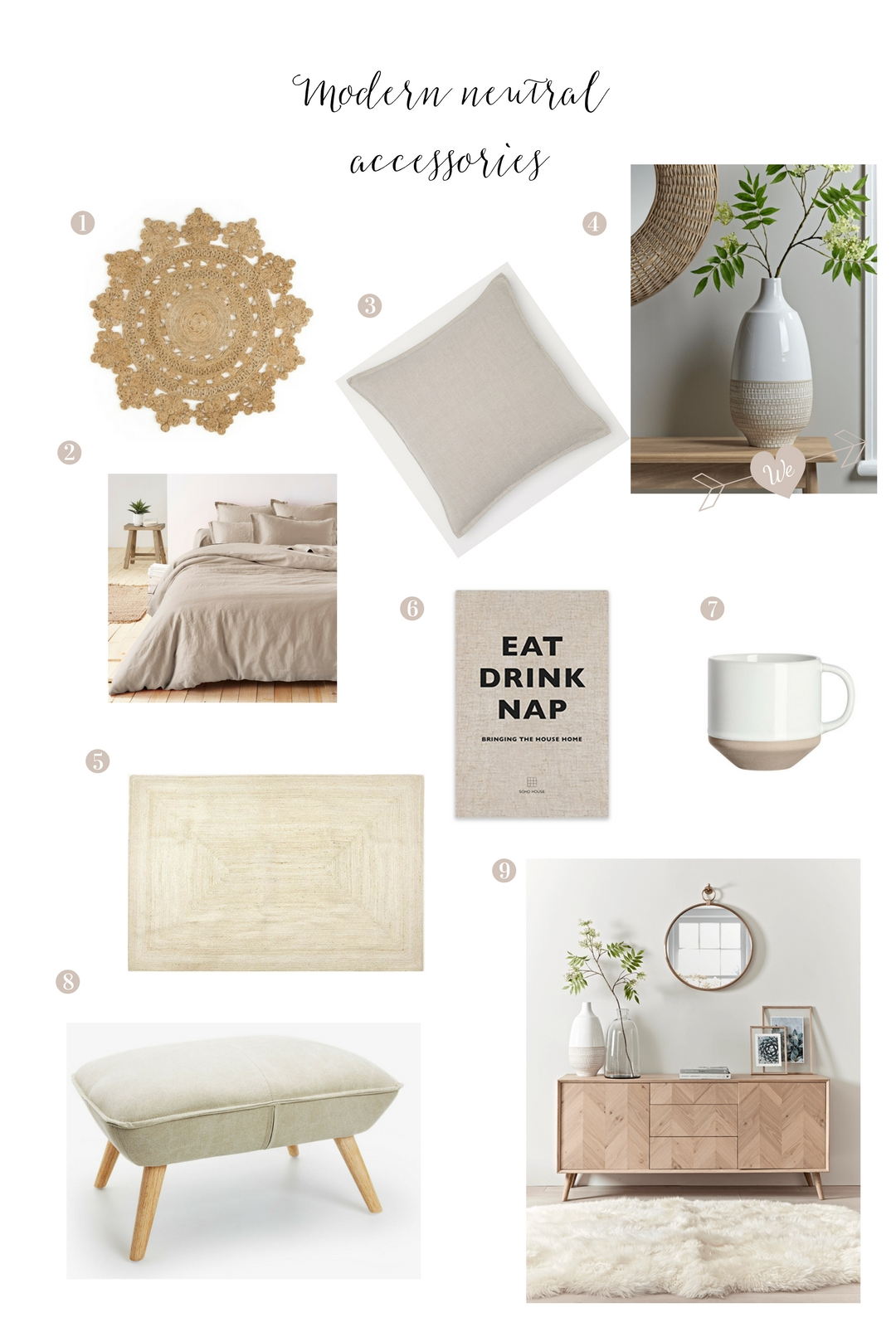 Beige interiors - shopping guide