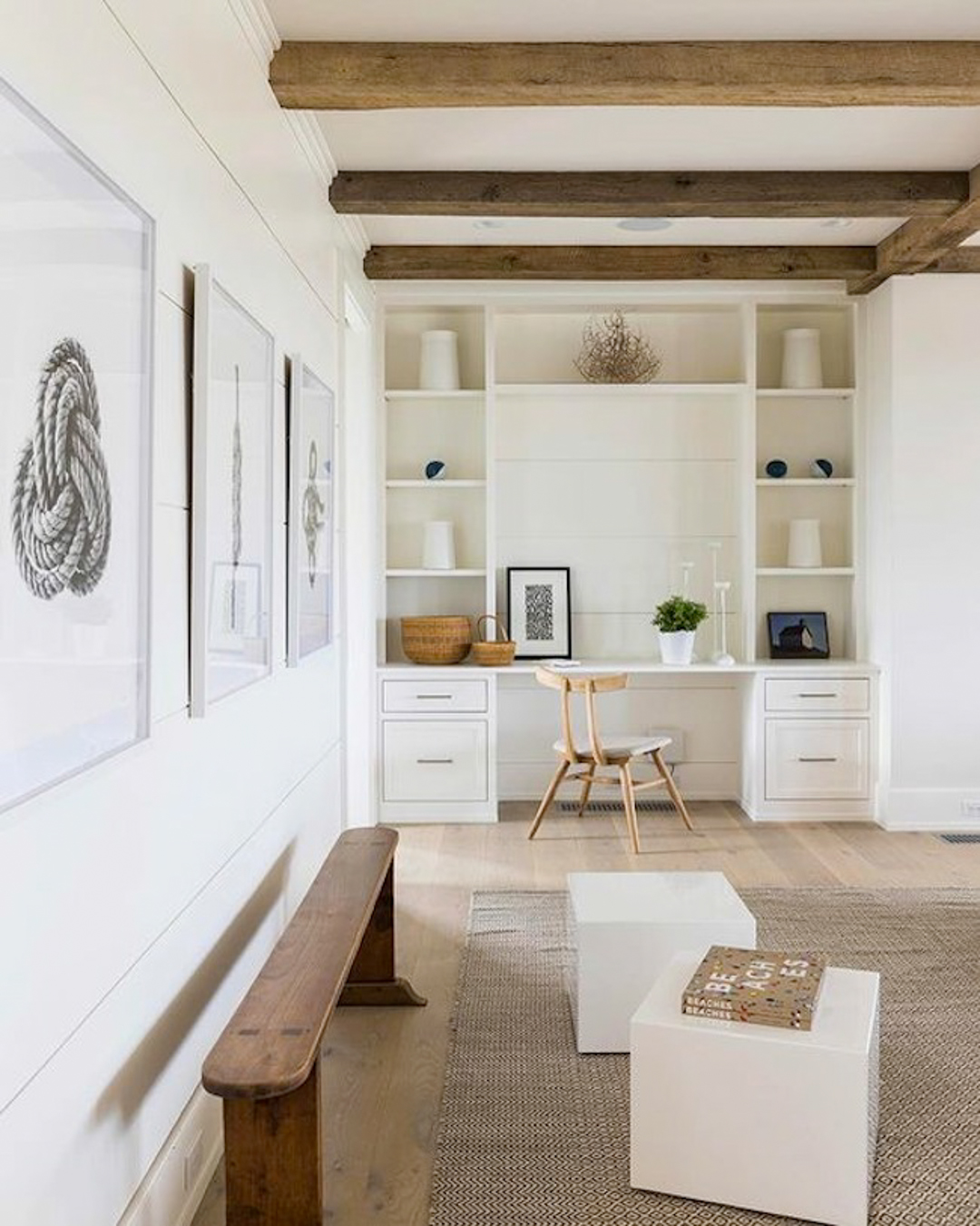 Beige interiors - white and natural living area