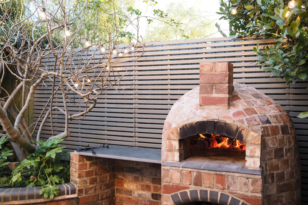 Pizza oven in our garden