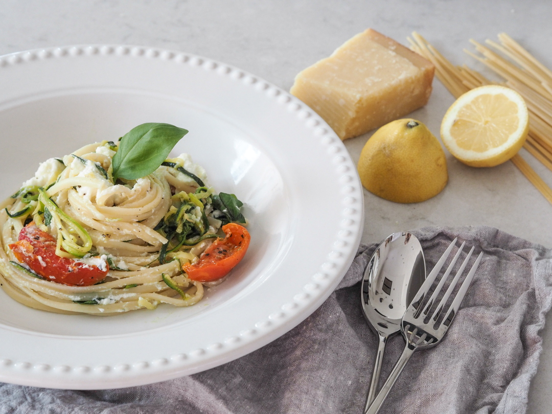 Courgette and ricotta pasta – creating beautiful meals with intu Derby