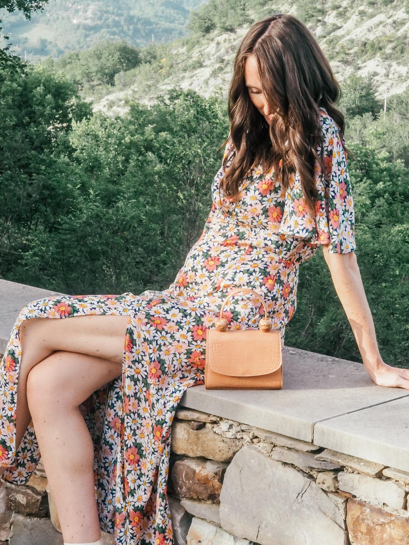 Floral topshop maxi dress