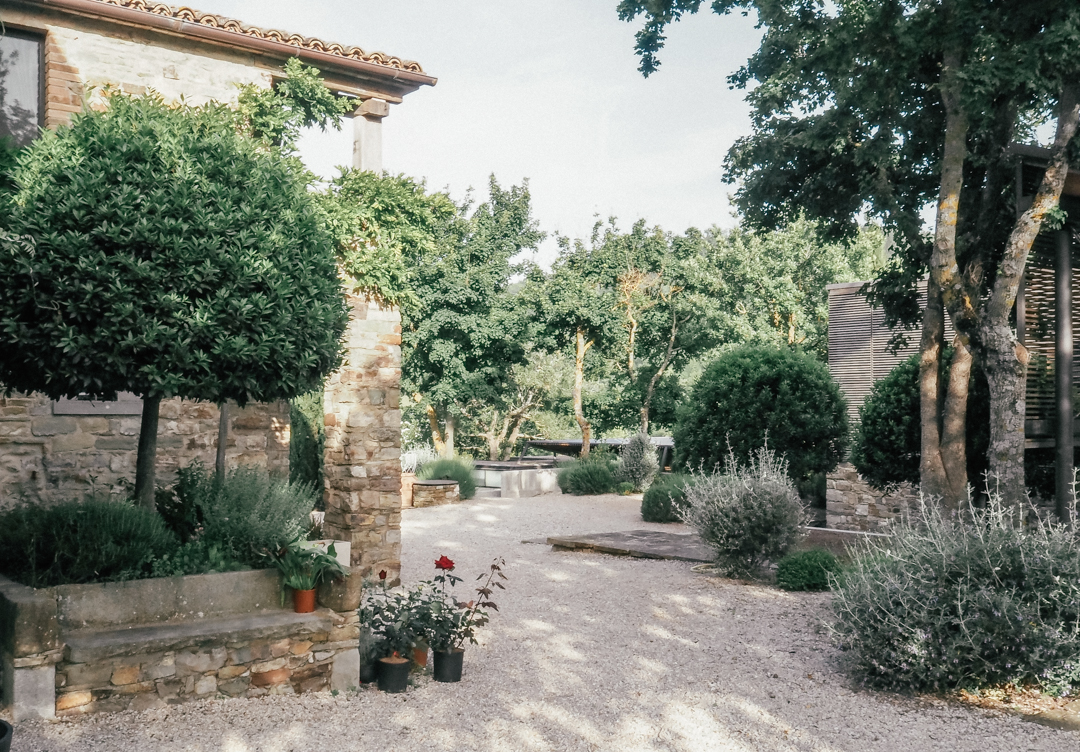 The gardens at Torre di Moravola
