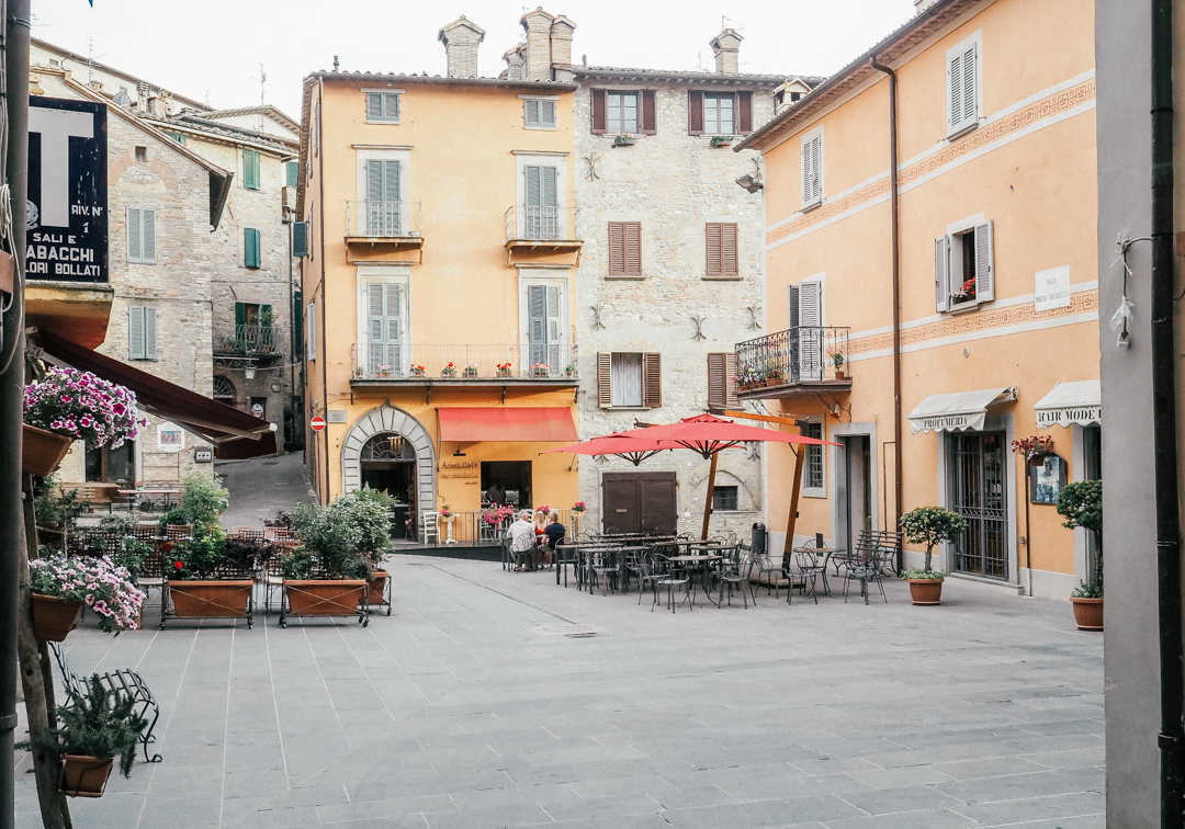 The square in Montone, Umbria