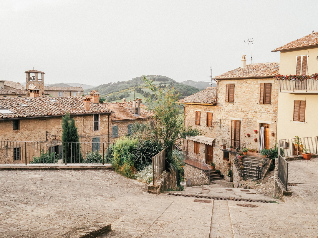 Rooftops in Montone, Umbria