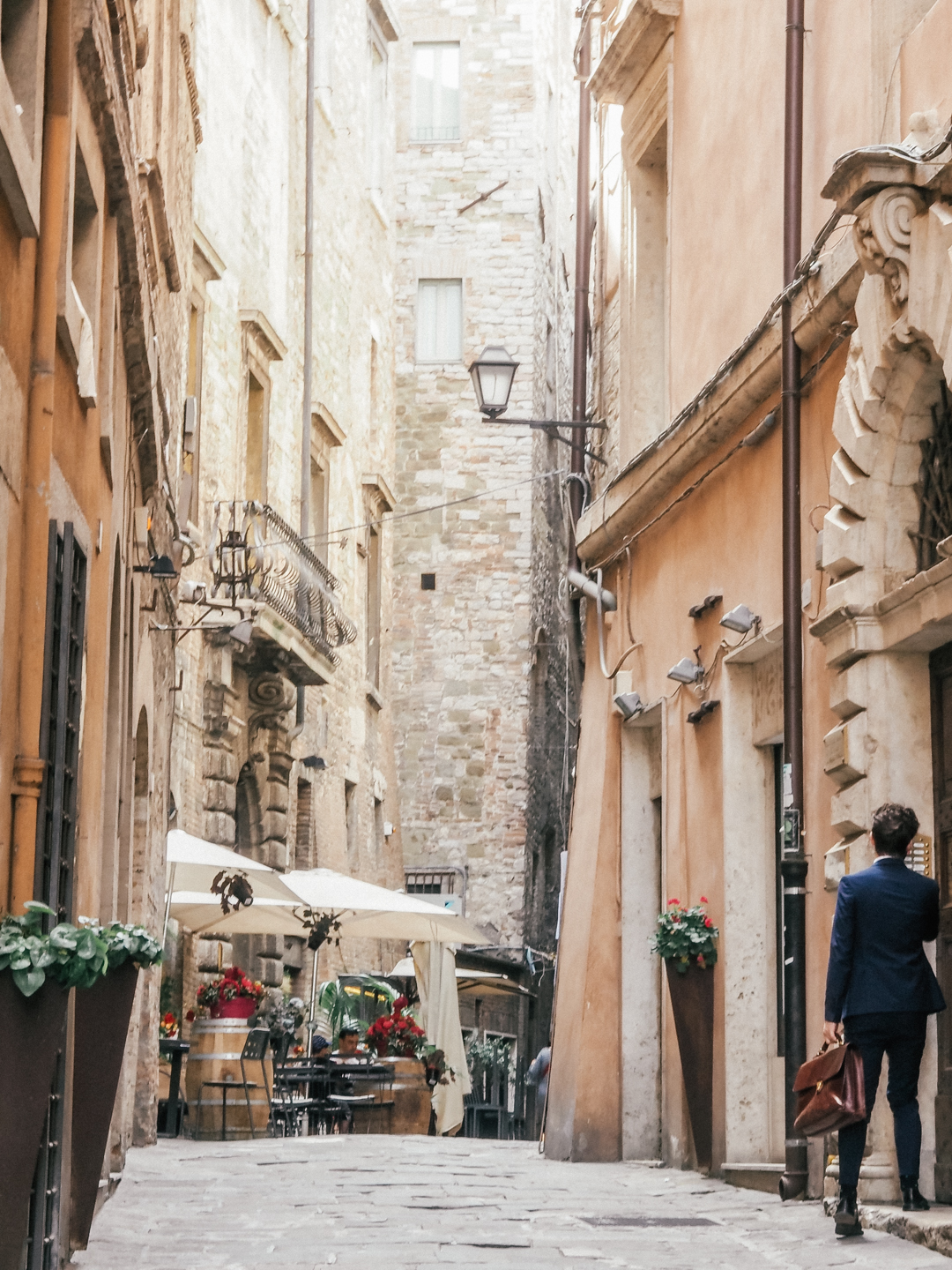 The streets of Perugia, Italy