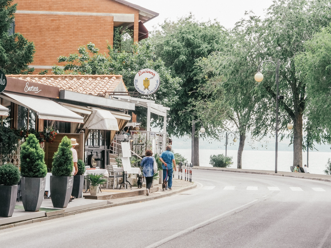 The streets of Lake Trassimeno, Umbria