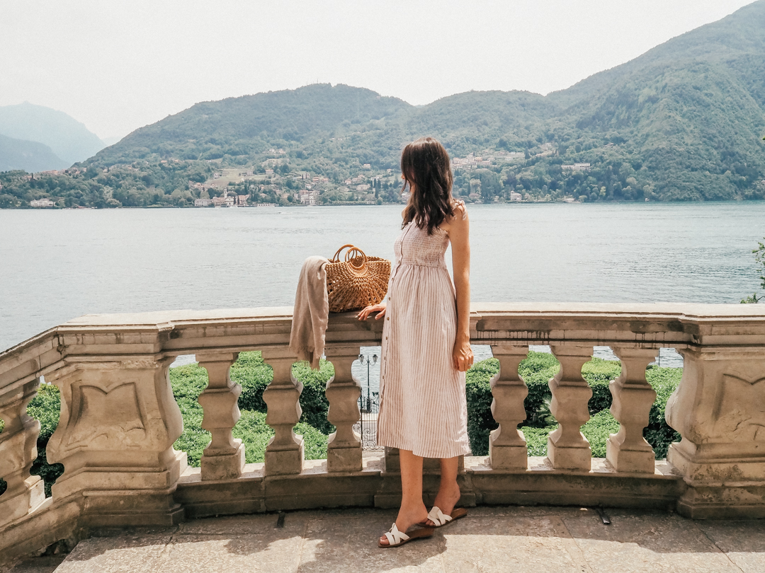 Looking out over Lake Como