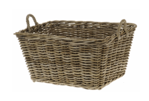 Rattan rectangular basket cox and cox